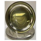 6pc Pewter by Hedko Plates