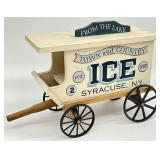 Vintage Wooden Ice Truck