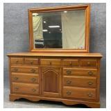 Quality Cherry Dresser with Mirror
