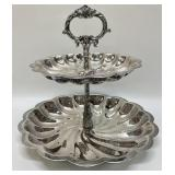 Two-Tiered Silverplated Serving Piece