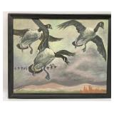 Flying Geese Oil on Board - Signed