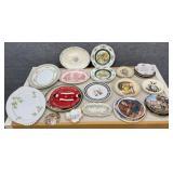Asst Porcelain Plates & Vintage Decor
