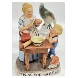2pc Trimming the Apple Pie Figurine & Bird
