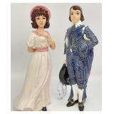 Pinky and Blue Boy Ceramic Statues