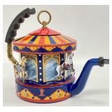 RARE Kamenstein Steam Tea Kettle Carousel Horses
