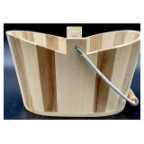 Unusual Wooden Basket