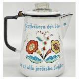 Berggrens Swedish Enamelware Coffee Pot
