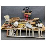 Troy-Bilt Mower, Large Group Tools, Ladder, Etc