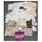 Asst. Vintage Linen, Shawls, Handkerchiefs, Etc.