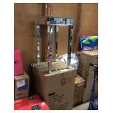 1 LOT 2 GLASS TABLES