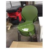 1 LOT 4 STACKING CHAIRS