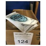 2 CTN (48) DEADLY CLEAN HAND WIPES