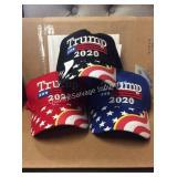1 LOT 3 TRUMP 2020 BALL CAPS (DISPLAY)