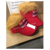 1 LOT 2 TRUMP 2020 W/ HAIR BALL CAPS (DISPLAY)
