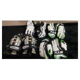 Group of Lacrosse gloves. Various sizes