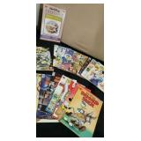 Group of Disney comics and books
