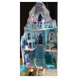 Frozen dollhouse with accessories and dolls