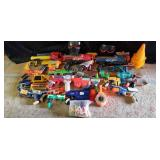 Arsenal of Nerf guns with darts and accessories
