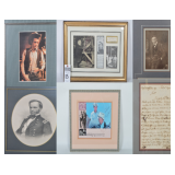 Autographed Artwork & Artifacts - Famous & Historical People