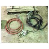 (2) gas pump hoses & nozzles