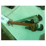 (2) Ridged Pipe wrench