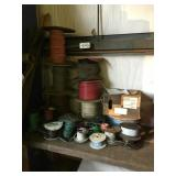Assorted spools of electrical wire