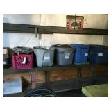 Bins with assorted electrical wire