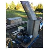 Pallet with pump, electrical motors & misc