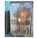 Heavy duty metal cabinet