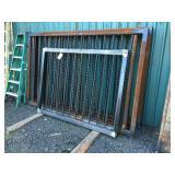(6) Custom made metal panels