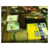 Assorted sand paper & sanding Disks