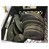 Assorted grinding disks