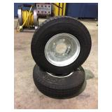 (2) Trail American 4.80 - 8 Trailer tires on rims