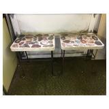 (3) VINTAGE END TABLES