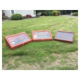 (3) LIGHTED SHOW CASES