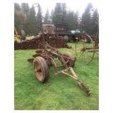 ANTIQUE 3 BOTTOM PULL TYPE PLOW