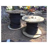 (2) PARTIAL SPOOLS OF CABLE
