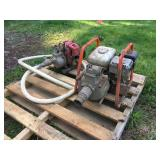(2) GAS POWERED WATER PUMPS
