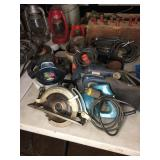 ASSORTED POWER TOOLS, SANDERS & SAWS