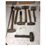 ASSORTED SLEDGE HAMMERS