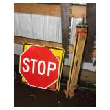 TRIPOD STAND, (3) SIGNS