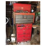 TOOL BOX W/ ROLL AROUND, INCLUDES TOOLS