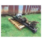 ANTIQUE DRAG SAW W/ VAUGHAN MOTOR