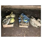(3) BOXES W/ RATCHET TIE DOWNS & ASSORTED SLINGS