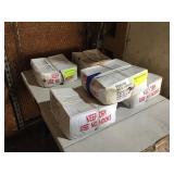 (5) 50 LB BOXES NAILS, BRIGHT DUPLEX 8D