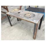SMALL METAL FAB TABLE
