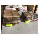 (2) 50 LB BOXES NAILS, DUPLEX 6D & 8D