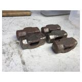 (5) BLACKSMITH HAMMER HEADS