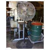 "DAYTON 24"" INJDUSTRIAL FAN ON STAND"