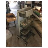 SHOP CART W/ REMOVABLE TRAYS